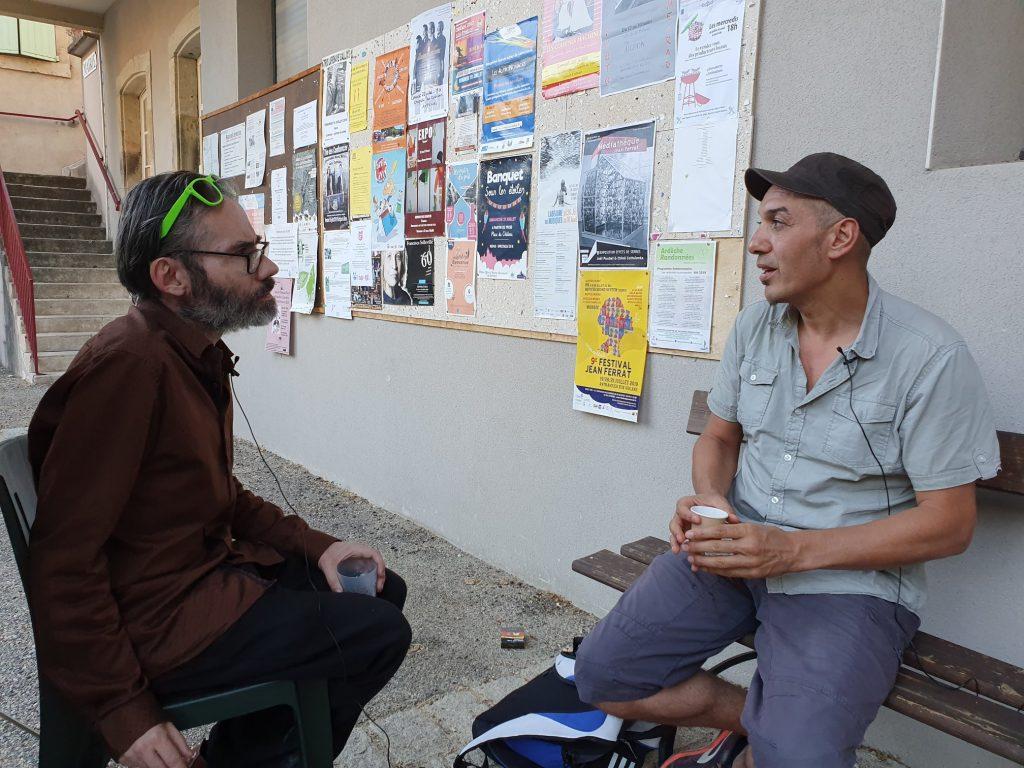 Fabrice bérard rencontre Kaddour Hadadi lors du festival Ferrat en Ardèche