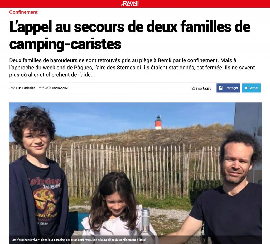 L'appel au secours de deux familles de camping-caristes