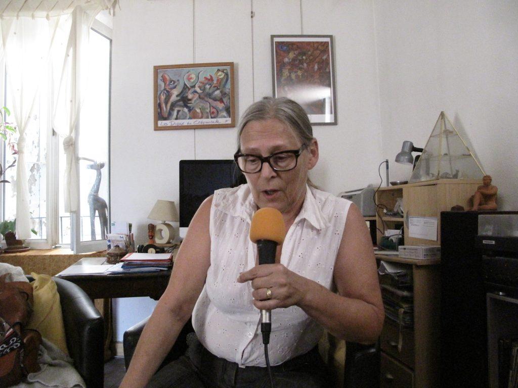 Catherine Huette interviwée par Fabrice Bérard sur la webradio des voyageurs Allo la Planete à Aubenas en Ardèche
