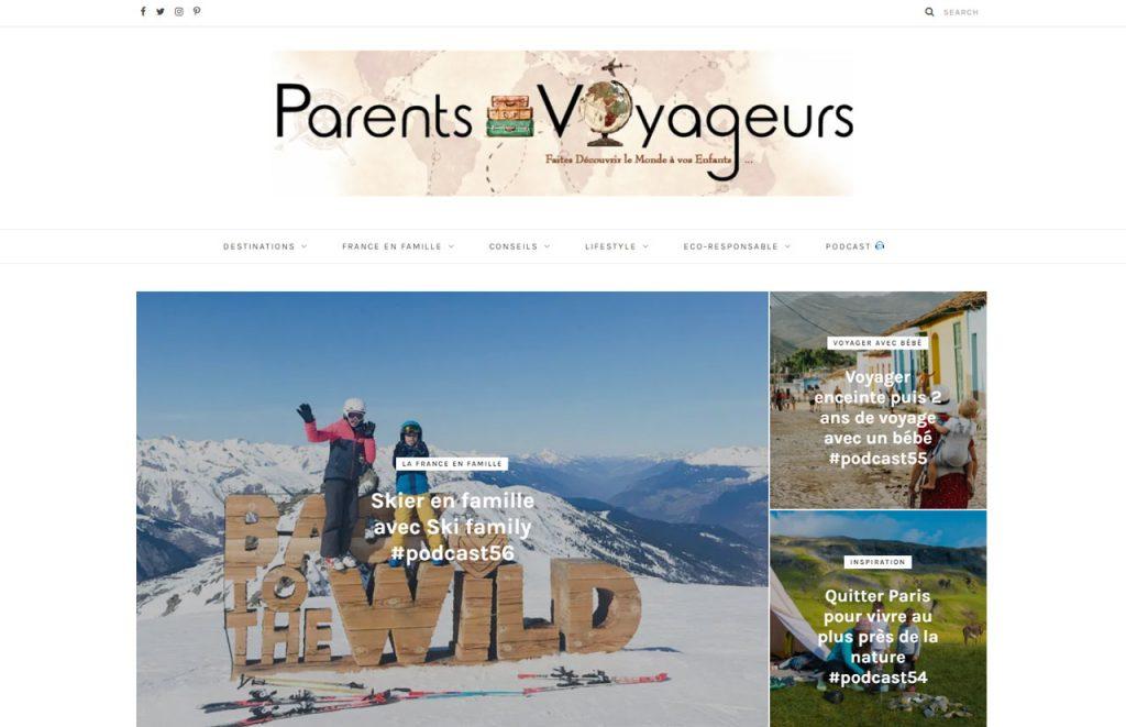 site web de parents voyageurs podcast voyage allo la planete webradio