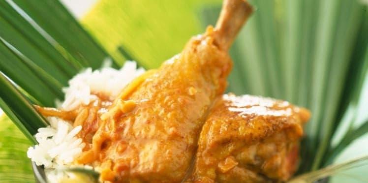 Le poulet coco de Madagascar, la cuisine source de bien-être de Mapi en Ardèche sur Allpo la planète