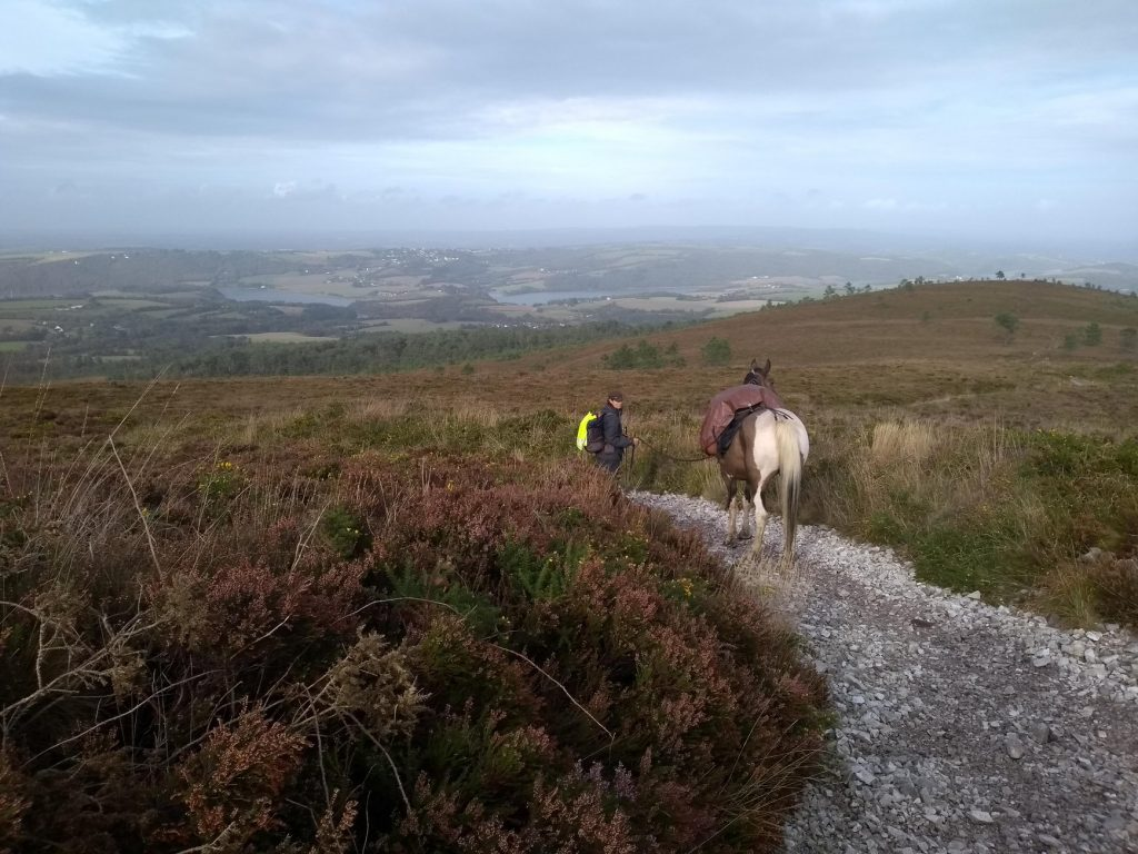 Juliette en route pour la Bretagne avec mes sabots allo la planete voyage à cheval
